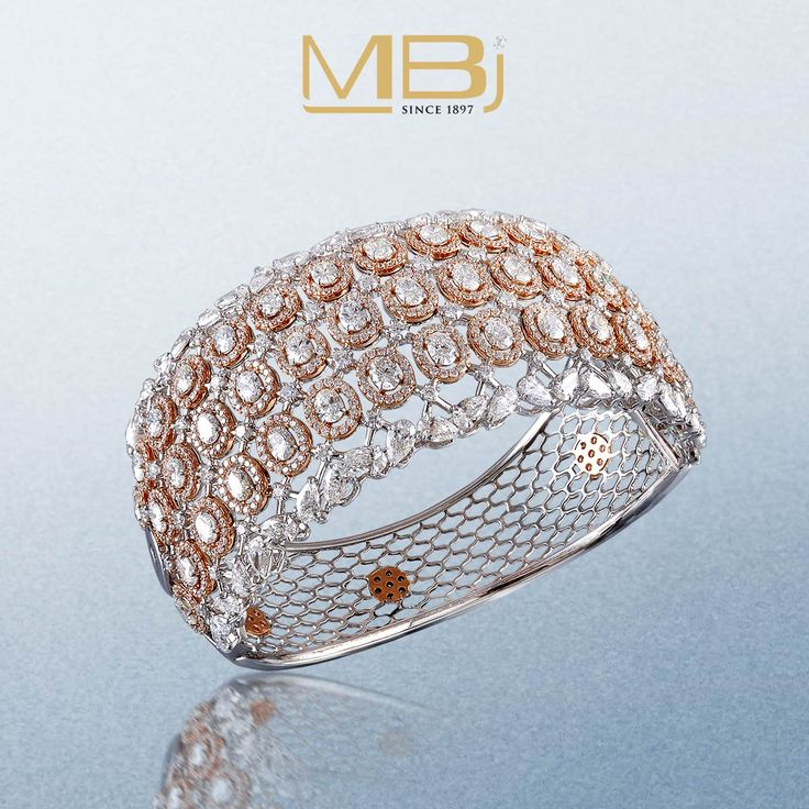 Stunning bracelet with round diamonds and rose gold. #MBj #Luxury #Desirable #Mo...