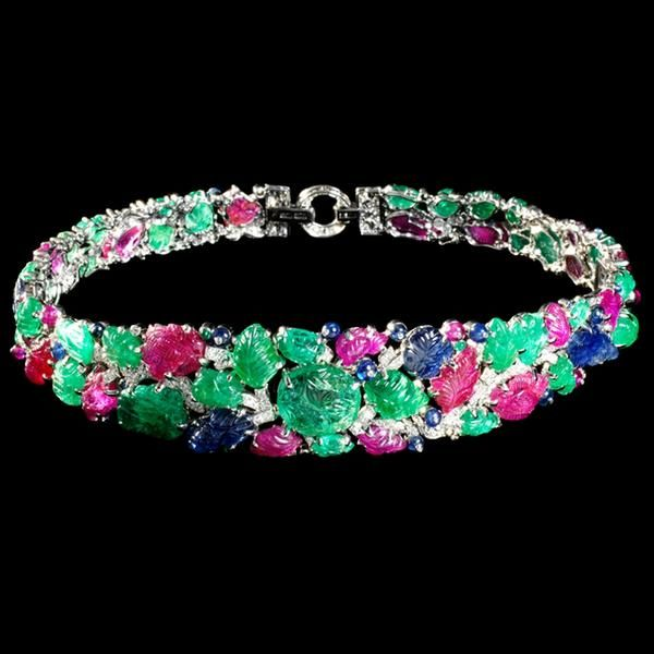 The Mountbatten Bandeau by Cartier, 1928. Rubies, sapphires, emeralds, diamonds ...