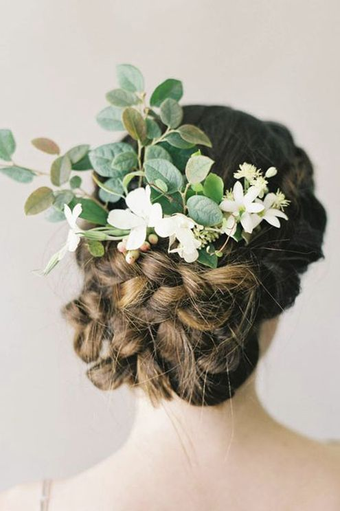 Featured Photographer: Jen Huang; Chic tightly braided low updo wedding hairstyl...