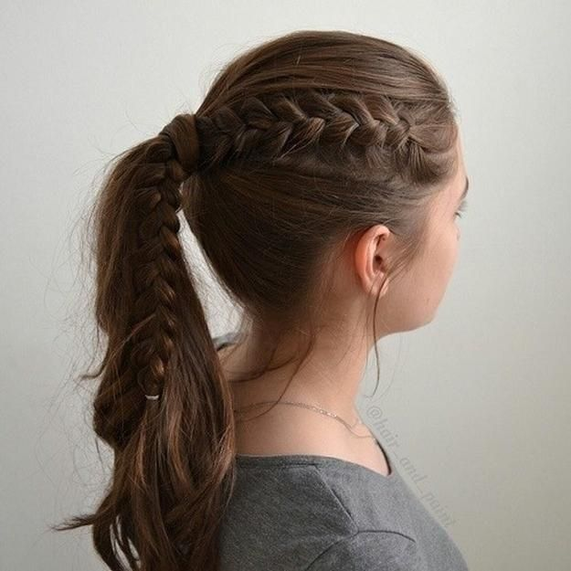 Hairstyles For Long Hair 1 Braided Ponytail Easy Before School
