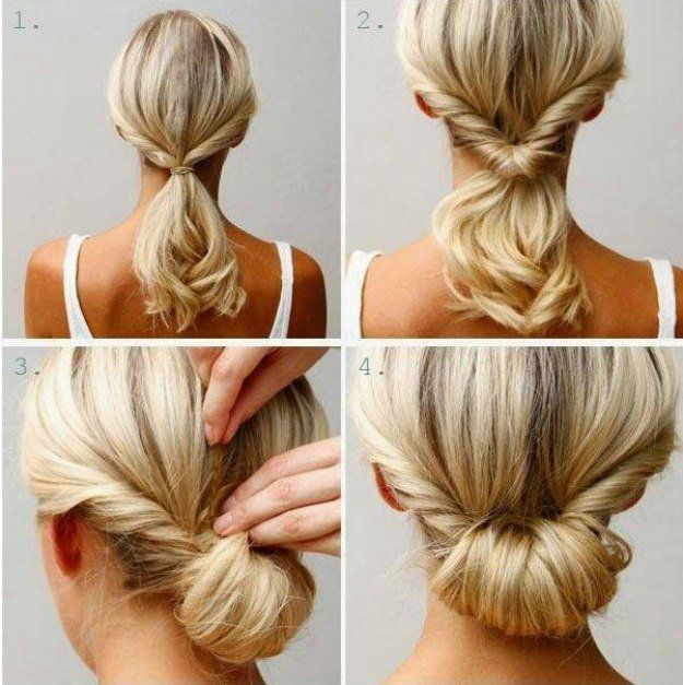 5. Easy Chignon | Be stylish and beautiful even when you cram to prepare for sch...
