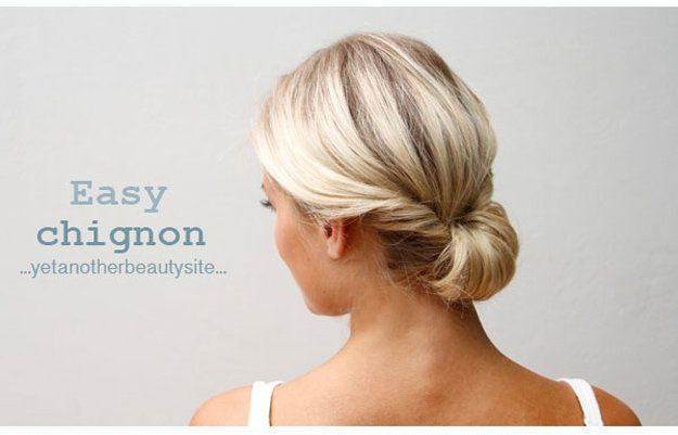 Easy Chignon   20 Hairstyles for Work   Quick and Easy Hairstyles You Can Do...