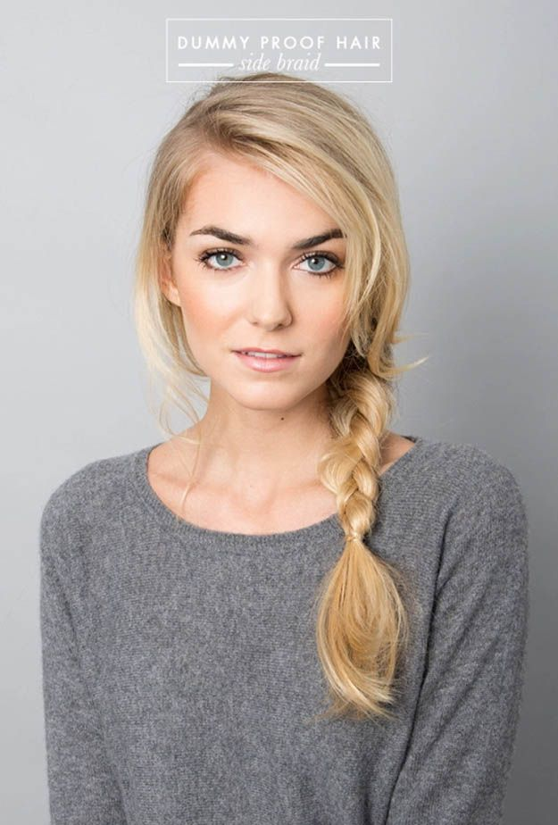 Easy Side Braid | 20 Hairstyles for Work | Quick and Easy Hairstyles You Can Do