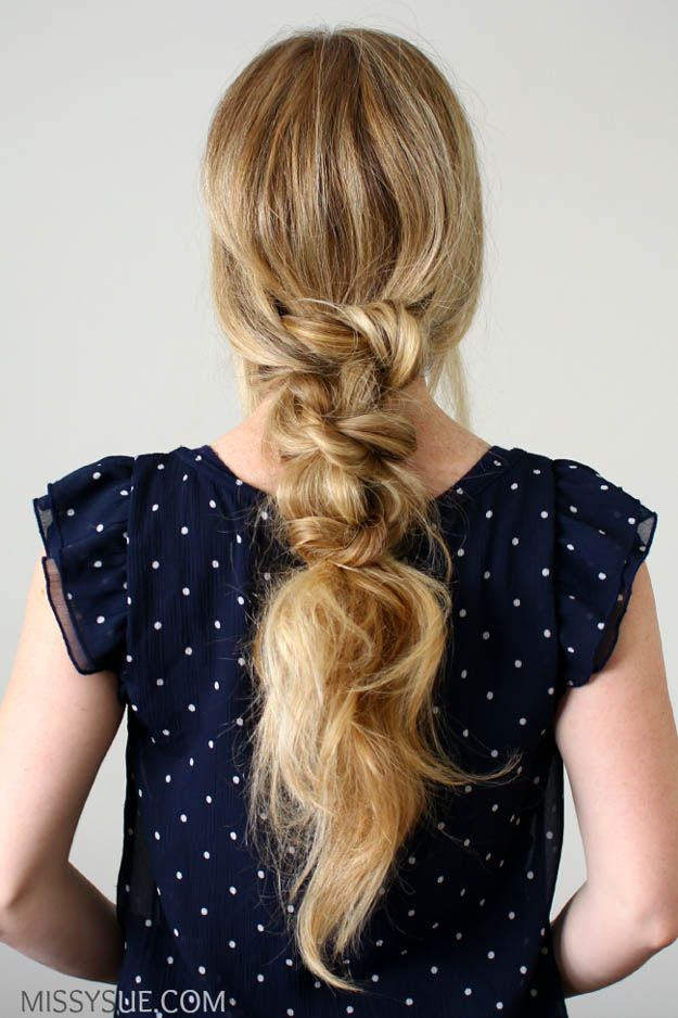Knotted Ponytail   20 Hairstyles for Work   Quick and Easy Hairstyles You Can Do
