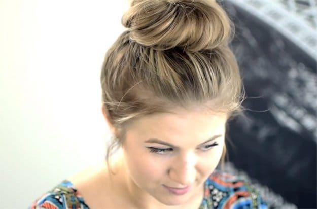 Messy Top Knot | Looking for cute and easy back to school hairstyles? We've ...
