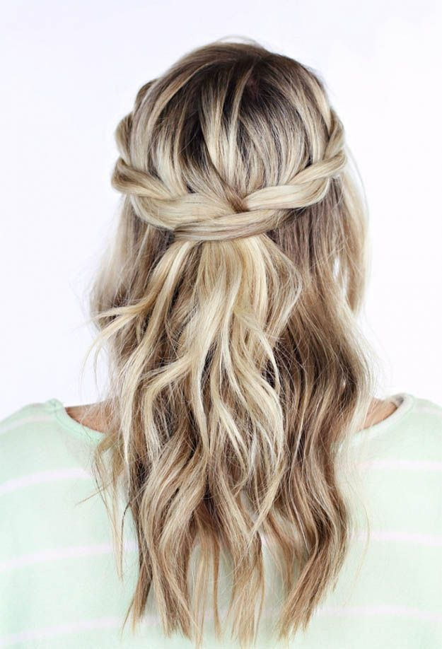 Twisted Crown Braid | 10 DIY Hairstyles for Long Hair