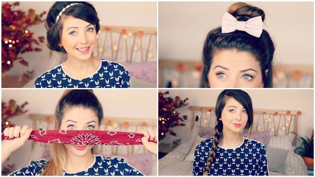 Zoella's Quick & Easy Hairstyles (4 in 1) | Looking for cute and easy back to ...