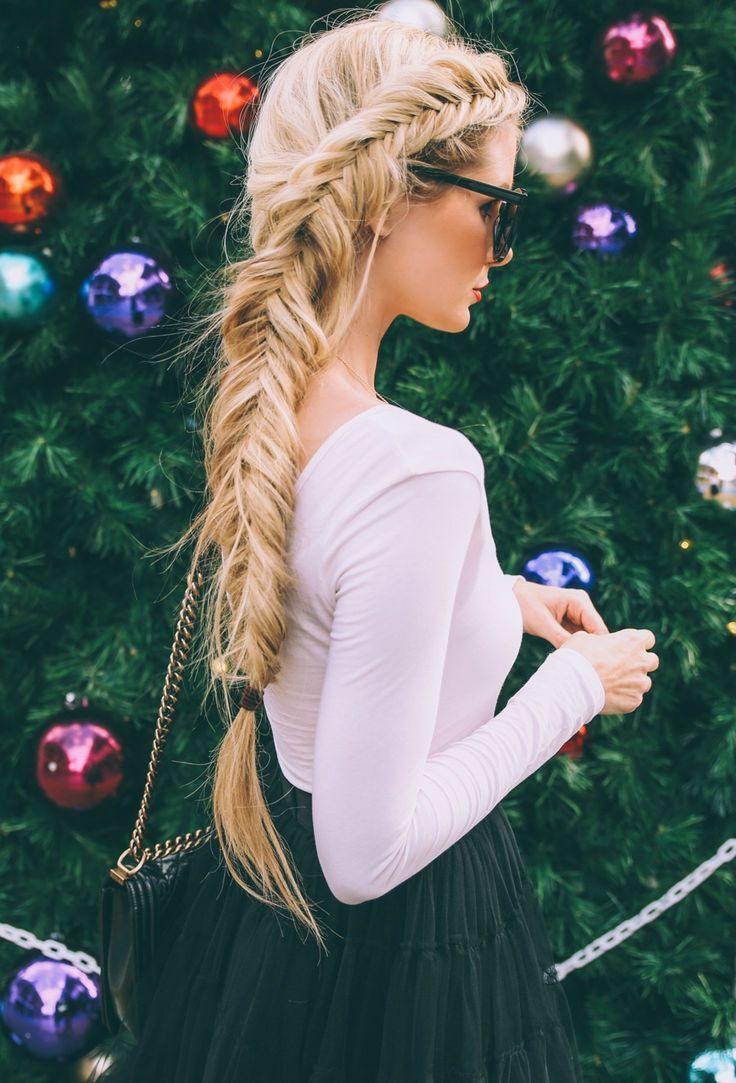 blondes long hair braid