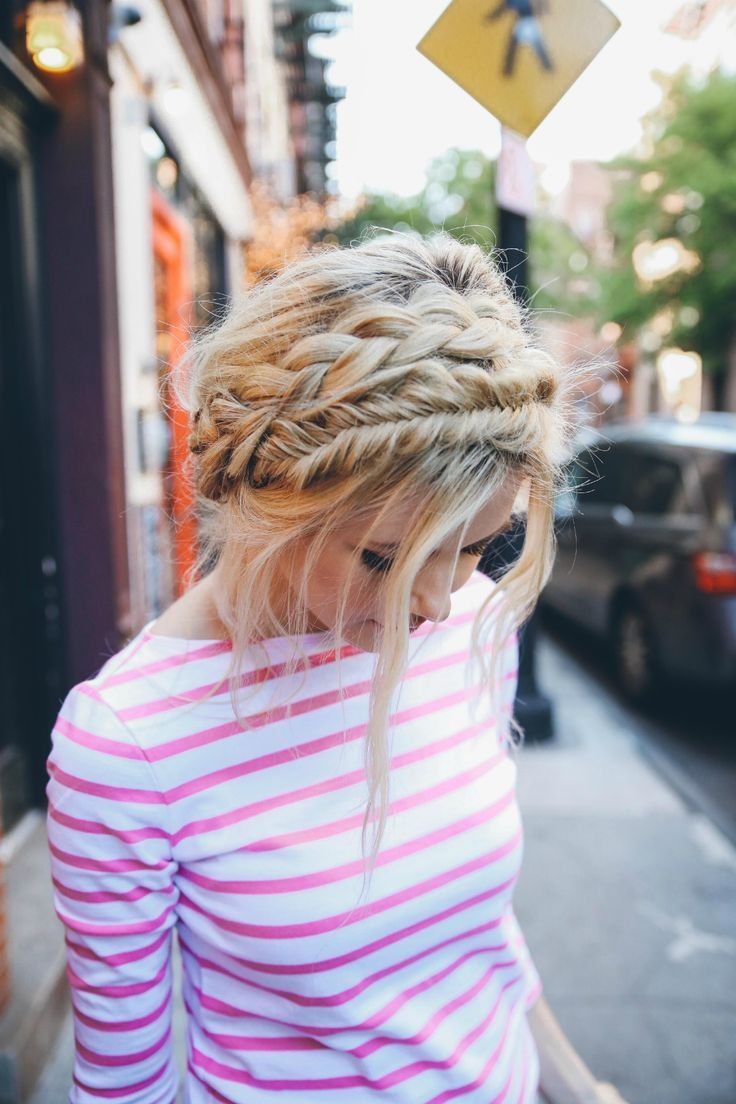 Braid and fishtail crown. 40 Pretty Braided Crown Hairstyle Tutorial and ideas.