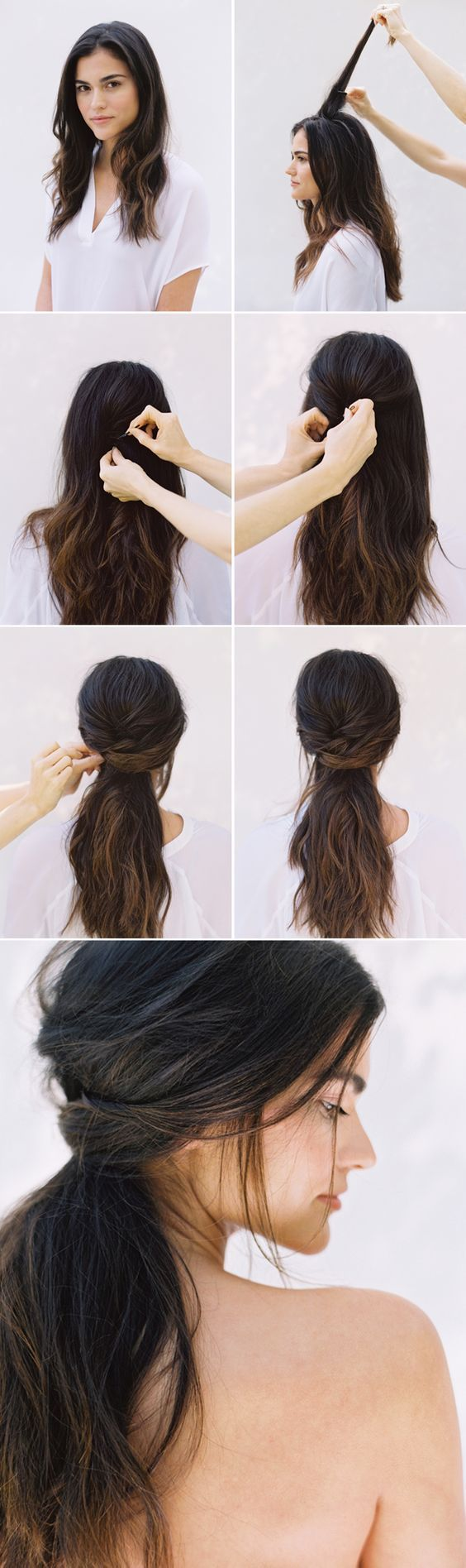#DIY Half Up Half Down #Wedding #Hair - this with some boho braids tucked in the...