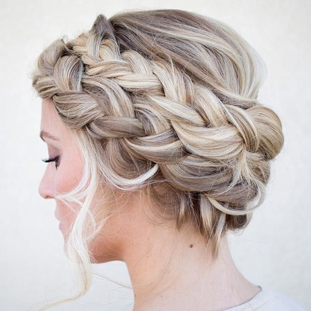 Double French #Braid Crown #Updo