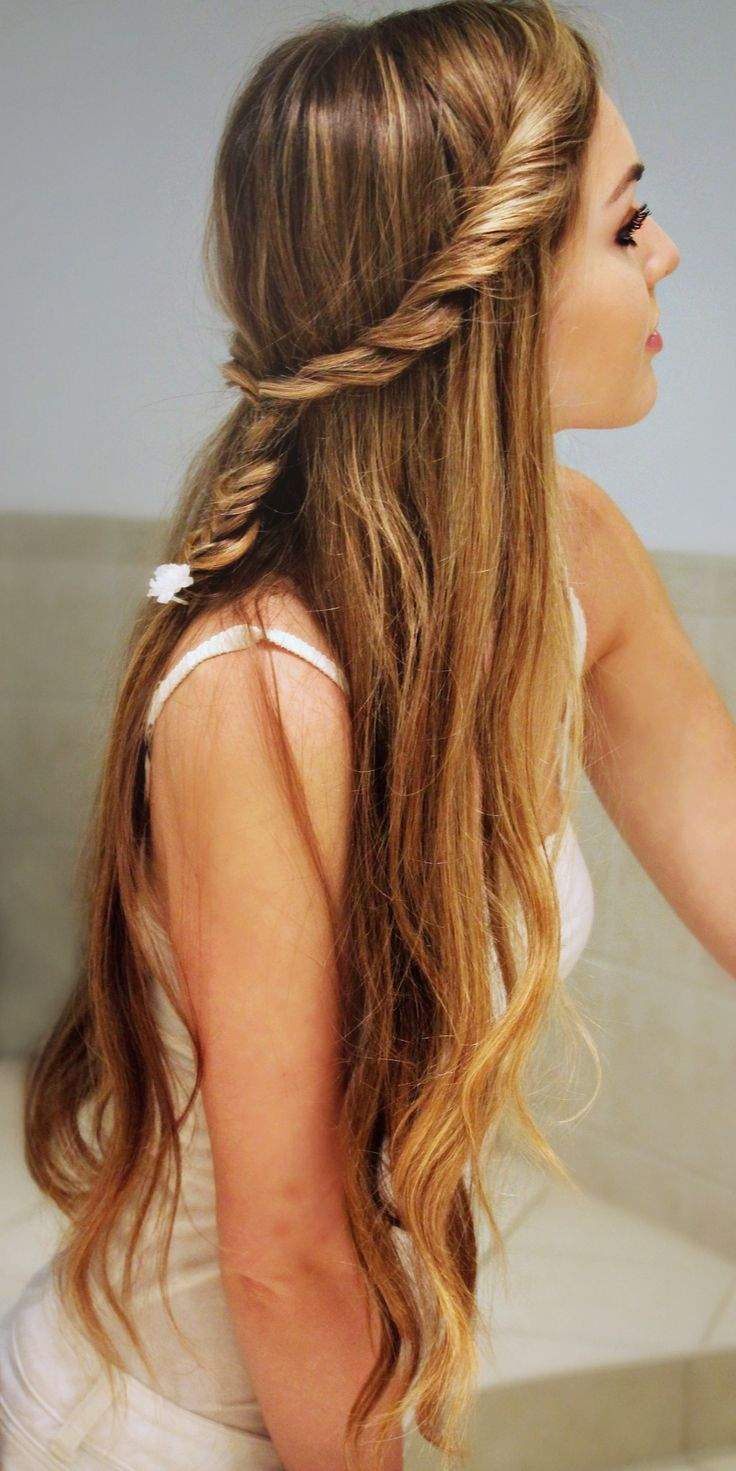 Fluffy Twist into #Fishtail #Braid! Back To School #Hairstyle...