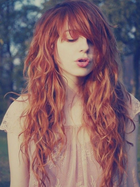 Ginger Glory. Long curly hair.