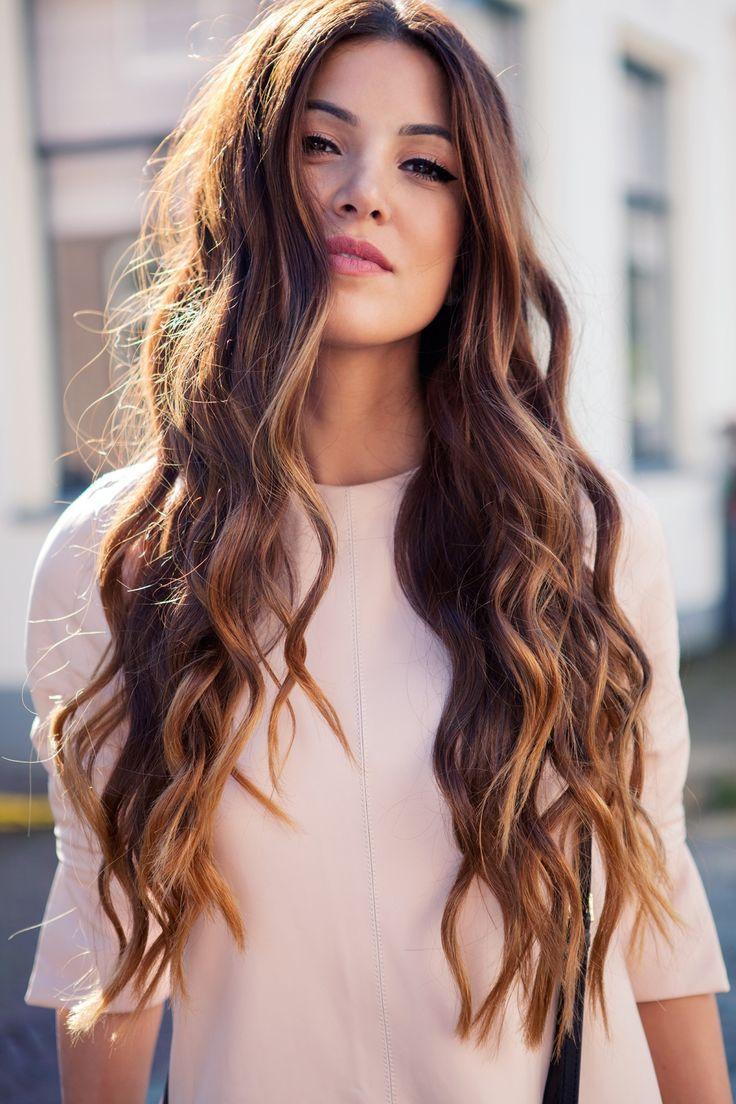 Gorgeous waves. Long hair hairdo. Haircut. Perfect haircut for long hair. Natura...