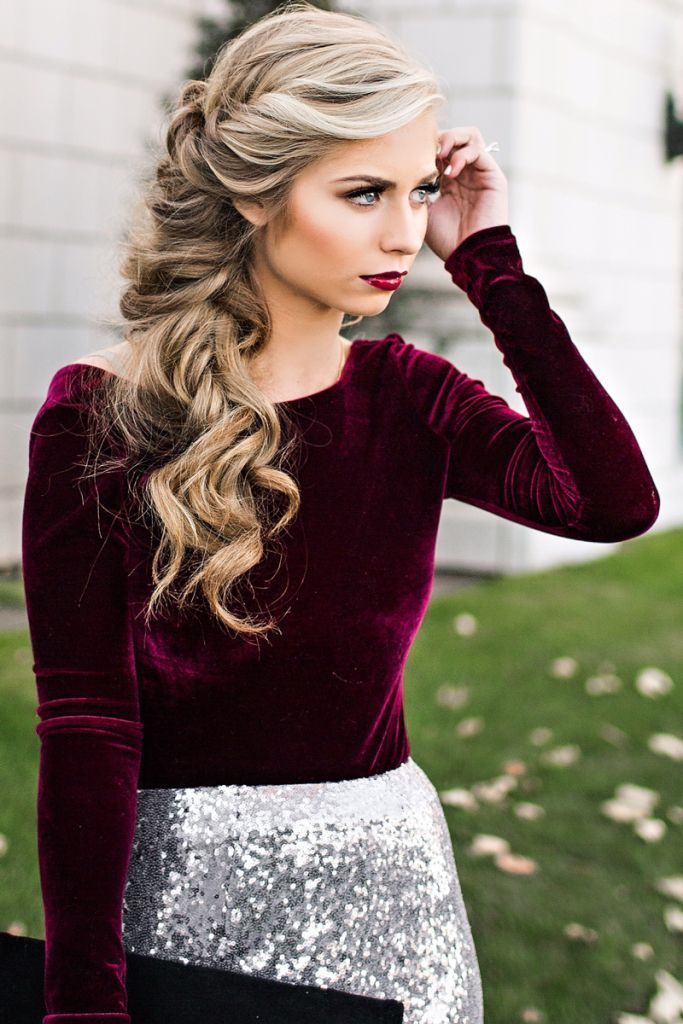 Holiday hair and makeup! New Year's Eve makeup, fashion, style. Sequins and ...