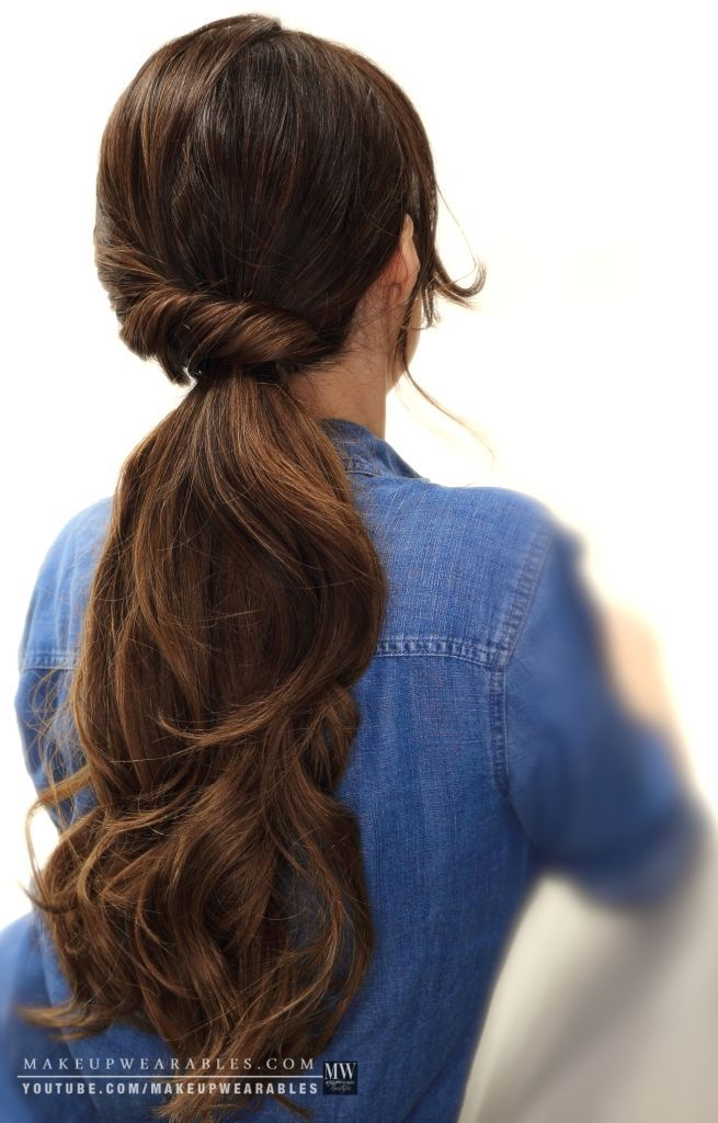 How To: 4 easy lazy hairstyles for school + everyday for medium or long hair. Vi...