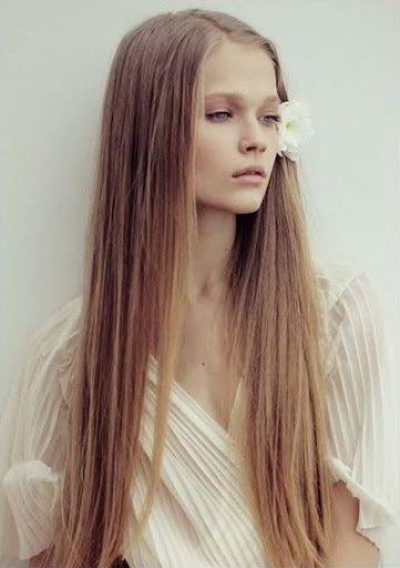 Long straigth hair...