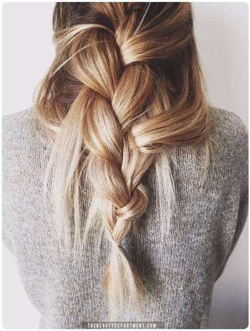The un-done braid with a cozy sweater...
