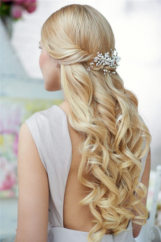Top 20 Down Wedding Hairstyles for Long Hair