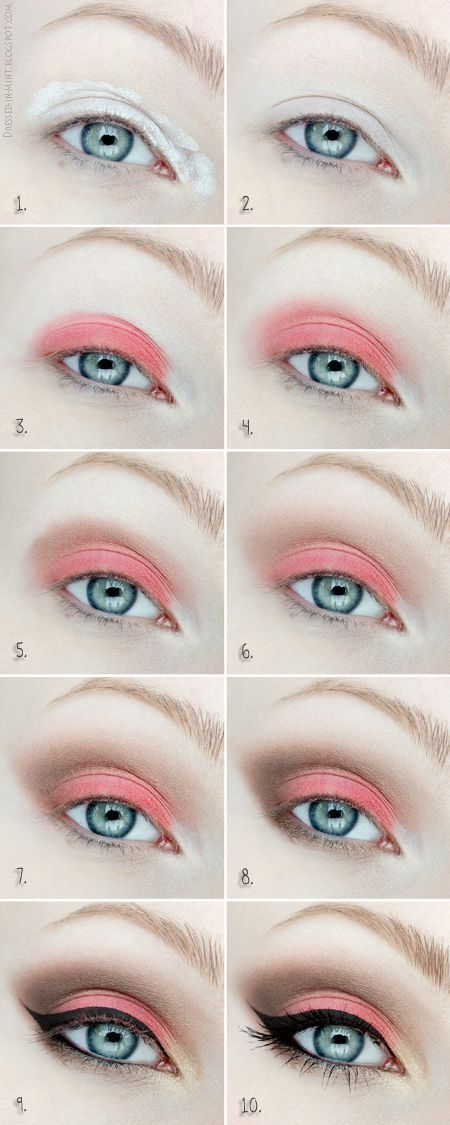 For Blue Eyes: Best Makeup Ideas. Step by step tutorials for smokey eyeshadow. B...
