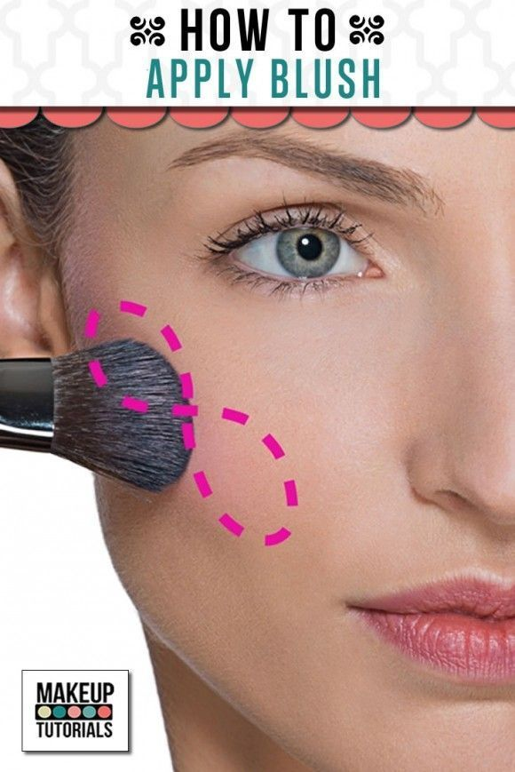 Makeup Ideas: How To Apply Blush. Easy step by step tutorial for beginners. Beau...
