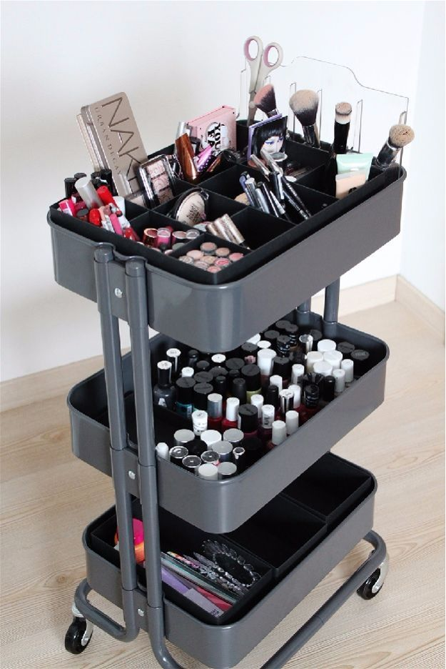 Rolling Cart | Cool Makeup Organizers To Give Your Makeup A Proper Home...