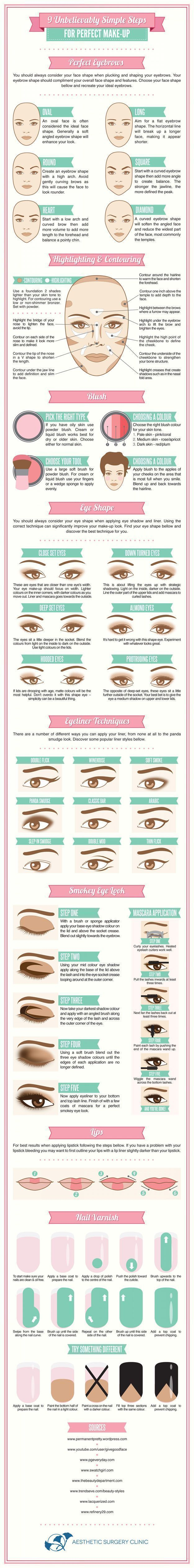 Simple Steps to Perfect Makeup   Everyday Makeup Tips for All Skin Types by Make...