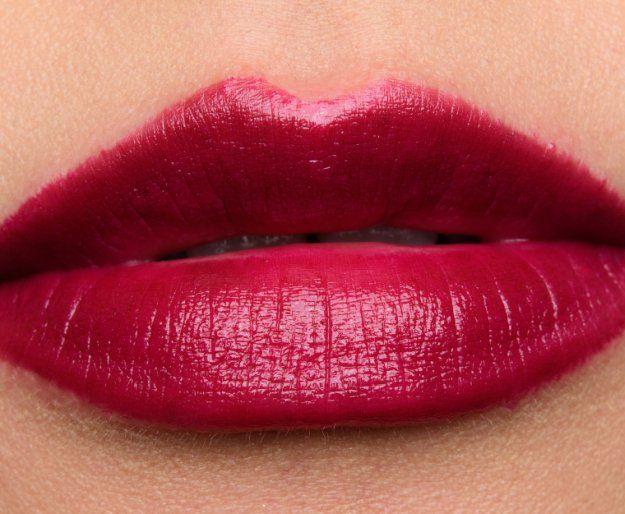 Smashbox Black Cherry Swatch | 13 Winter Lipstick Shades Your Makeup Bag Needs
