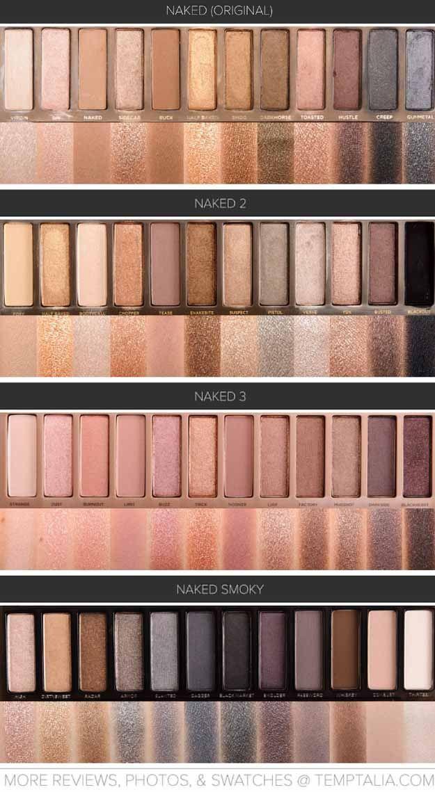 Urban Decay Naked Palettes Swatches | Makeup Tutorials makeuptutorials.c......