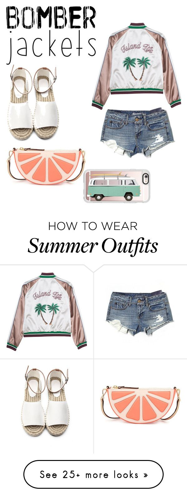 """Bomber jackets"" by kaylieq on Polyvore featuring American Eagle Outfi..."
