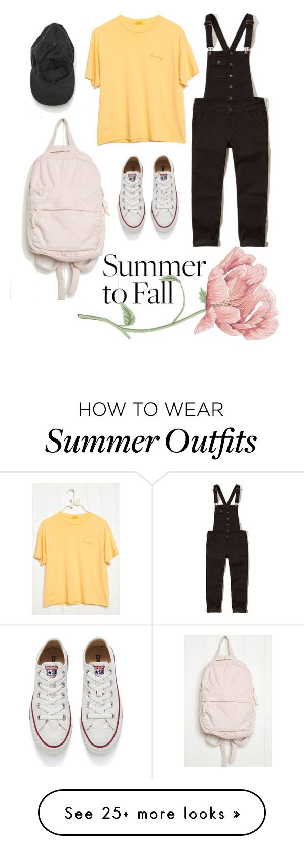"""""""Brandy Melville outfit"""" by louloum1707 on Polyvore featuring Holliste..."""