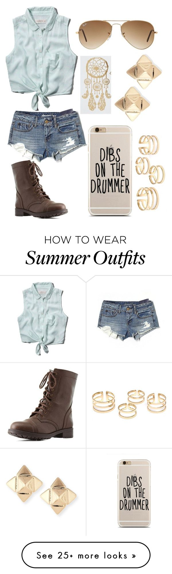 """""""Cowboy summer vibes"""" by crystalgal1 on Polyvore featuring Abercrombie..."""
