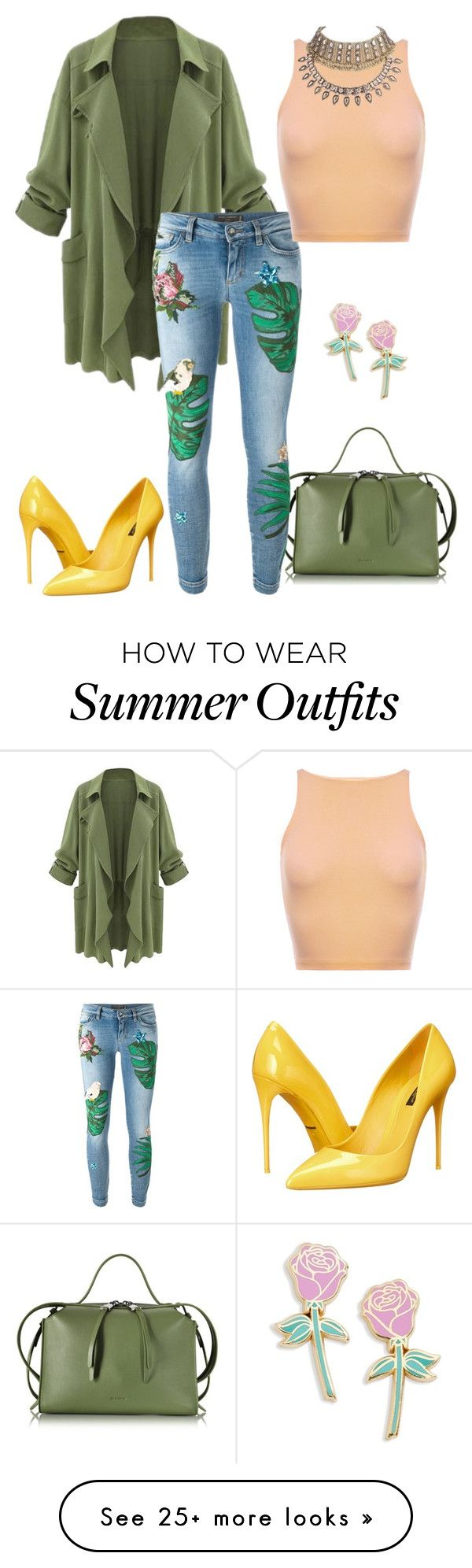 """Cute summer tropical feel outfit"" by charlotteflavours on Polyvore fe..."