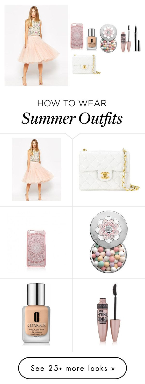 """""""Fancy outfit summer"""" by emipooh on Polyvore featuring Clinique, Forev..."""