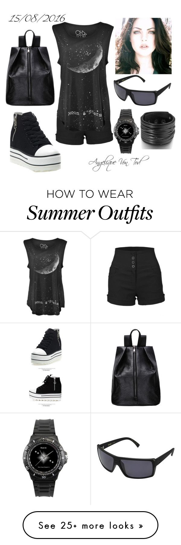 """""""Goth Summer Outfit"""" by angelique-von-tod on Polyvore featuring LE3NO,..."""