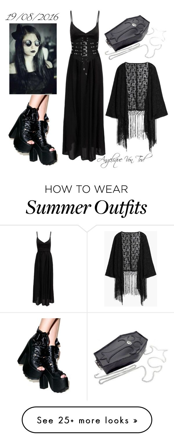 """""""Gothic Summer Outfit"""" by angelique-von-tod on Polyvore featuring MANG..."""