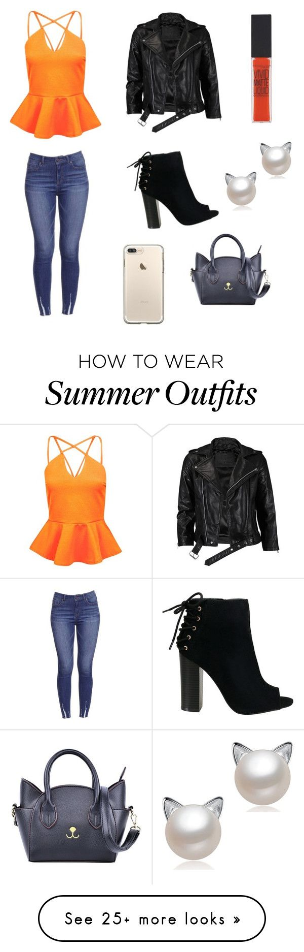"""""""Halloween Party Outfit """" by lsantana13 on Polyvore featuring Boohoo, ..."""