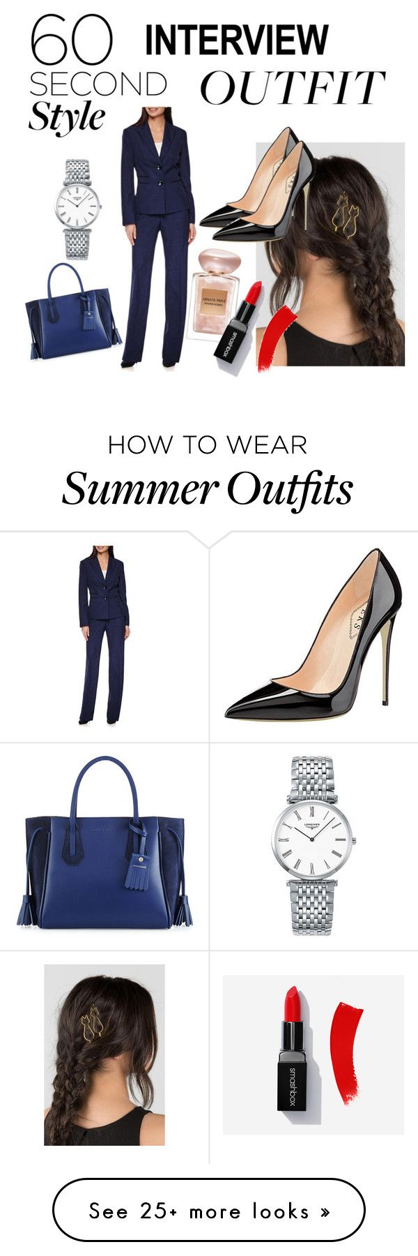 """""""Interview Outfit."""" by crazykitty13 on Polyvore featuring Longchamp, L..."""