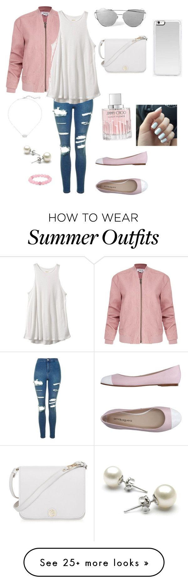 """""""Light pink cute outfit"""" by cheleniak on Polyvore featuring Helmut Lan..."""