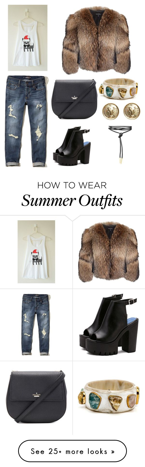"""""""Outfit"""" by vanessad123 on Polyvore featuring Adrienne Landau, Hollist..."""
