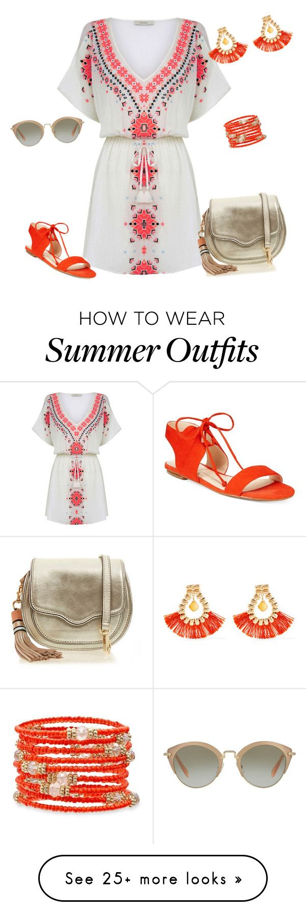 """""""outfit4658"""" by natalyag on Polyvore featuring Nine West, Rebecca Mink..."""
