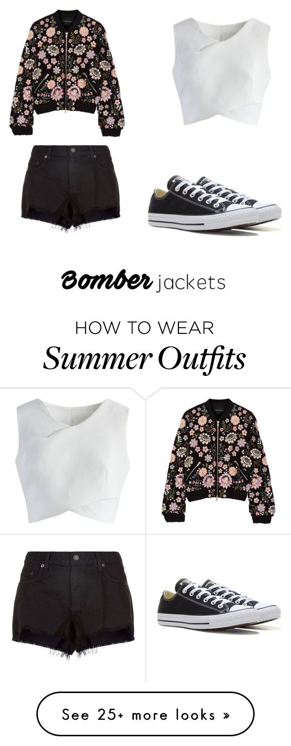"""Summer bomber jacket outfit"" by hettie-leia on Polyvore featuring Nee..."