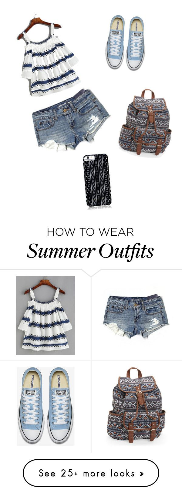 """""""Summer Cute"""" by rachel-dohh on Polyvore featuring American Eagle Outf..."""