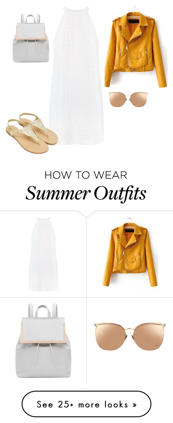 """""""Summer outfit"""" by ceciperticaro on Polyvore featuring A.L.C., Ted Bak..."""