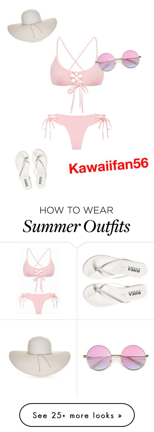 """summer outfit"" by kawaiifan56 on Polyvore featuring Nine West..."