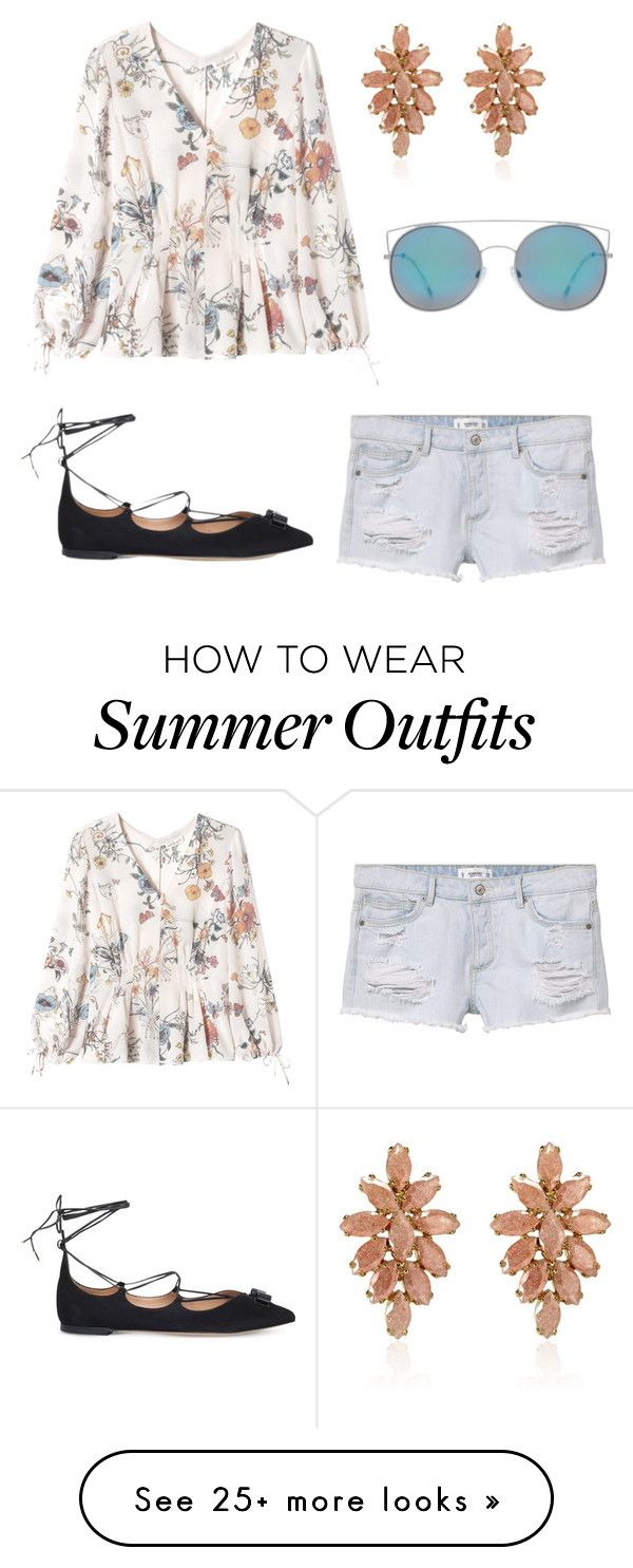 """Summer outfits"" by laquisha16 on Polyvore featuring MANGO, Rebecca Ta..."