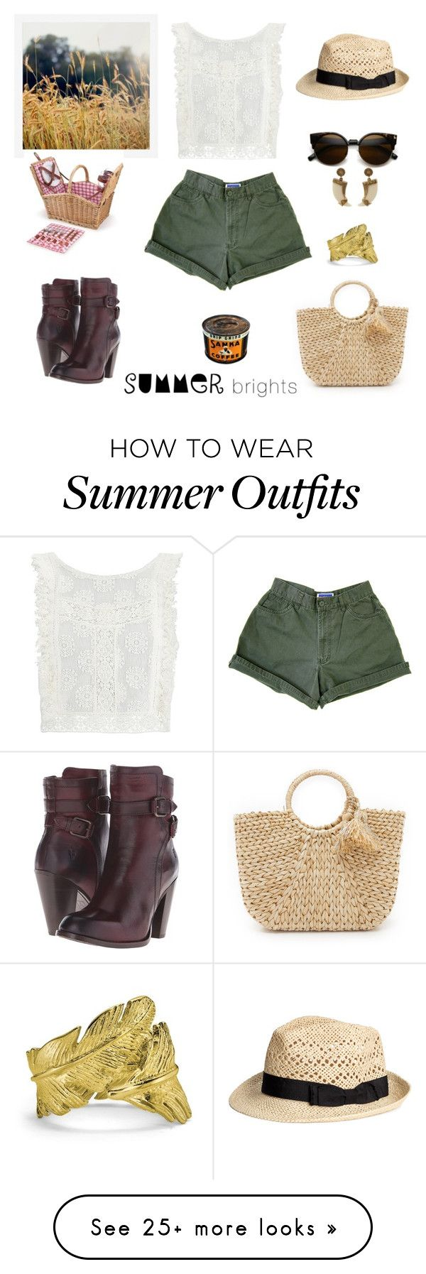 """""""summer perfect picnic outfit"""" by michellealfaro on Polyvore featuring..."""
