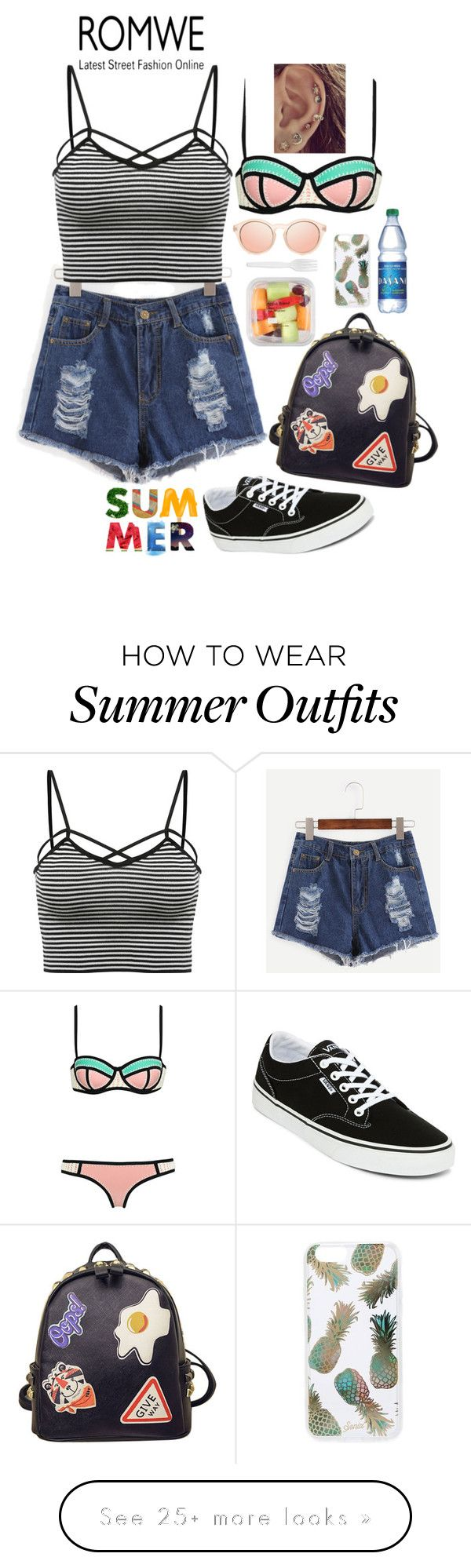 """""""sunset outfit"""" by giulisdasf on Polyvore featuring Cotton Candy, Vans..."""