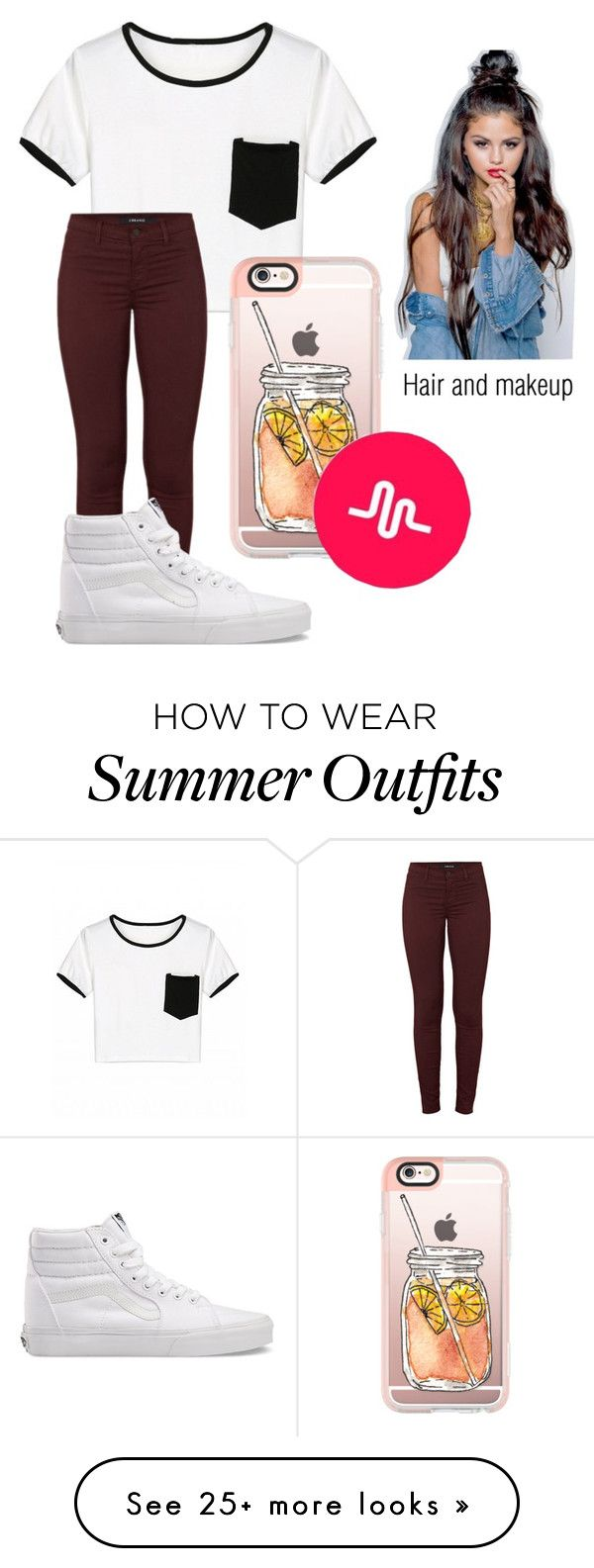 """VidCon Outfit"" by magconxalex on Polyvore featuring J Brand, Vans and..."