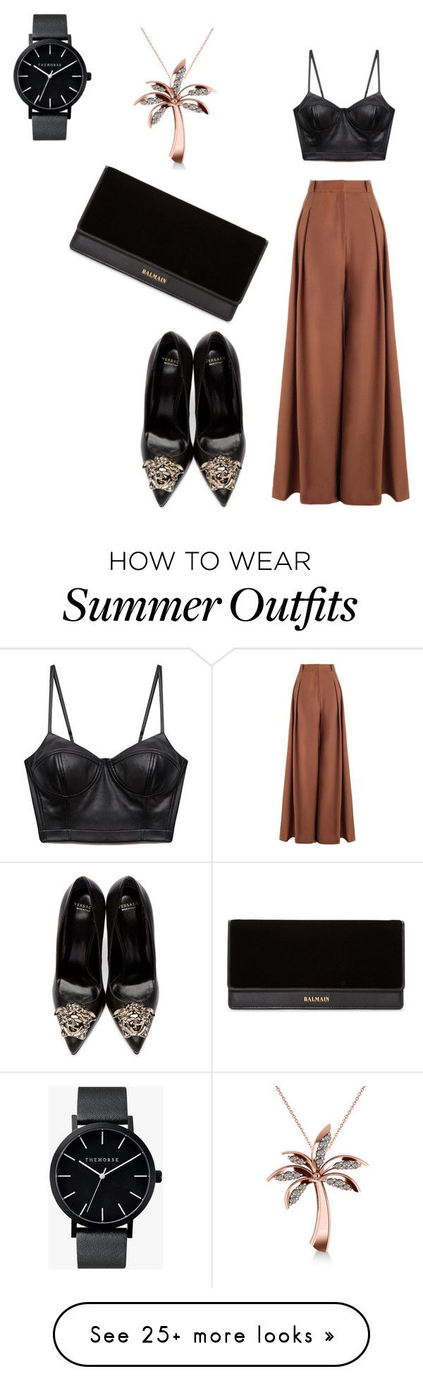 """When A little leather make the outfit sing"" by staciapandalover on Po..."